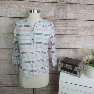 Marc by Marc Jacobs Striped Henley Top Small